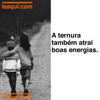 A ternura também atrai boas energias
