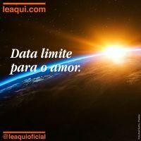 Data limite para o amor