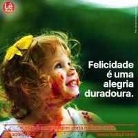Felicidade é uma alegria duradoura