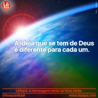 A ideia que se tem de Deus é diferente para cada um