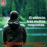 O silêncio traz muitas respostas